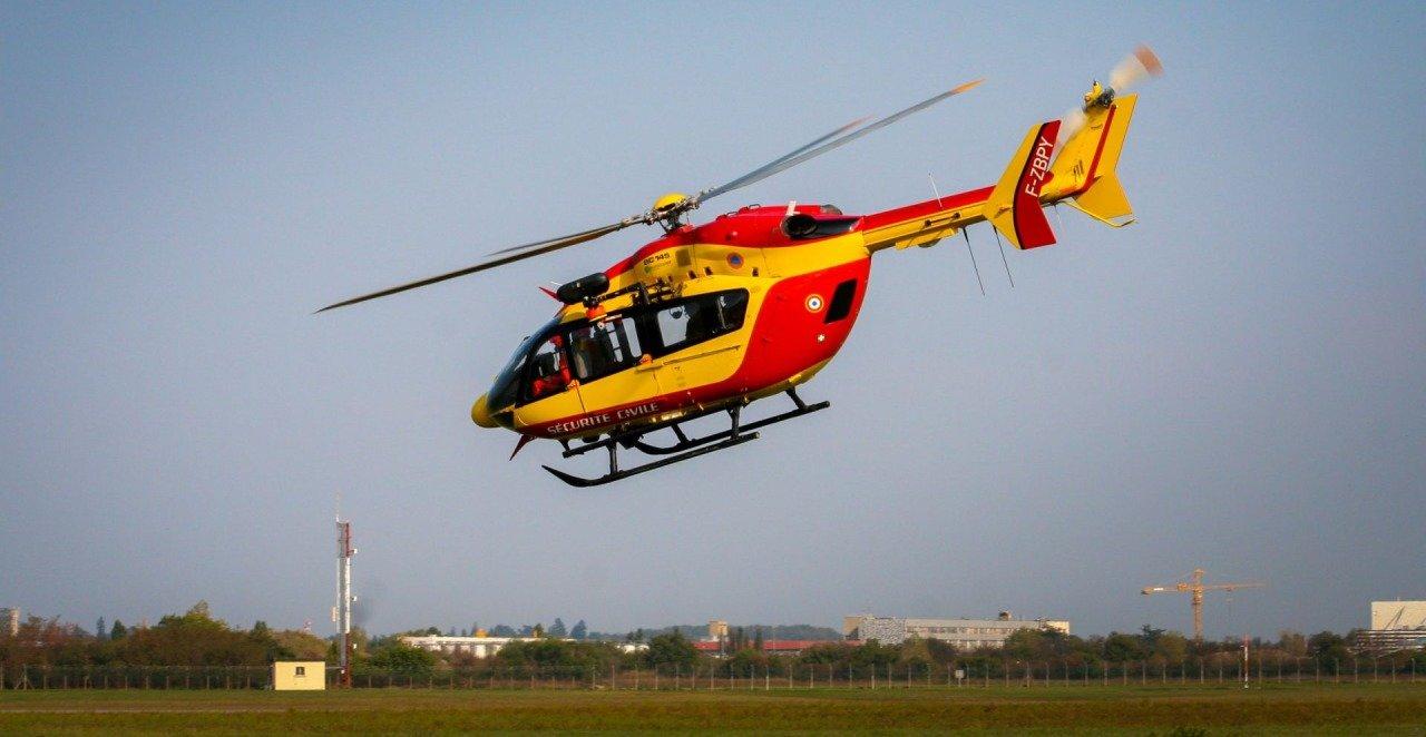 Helicopter bij Zandvoort